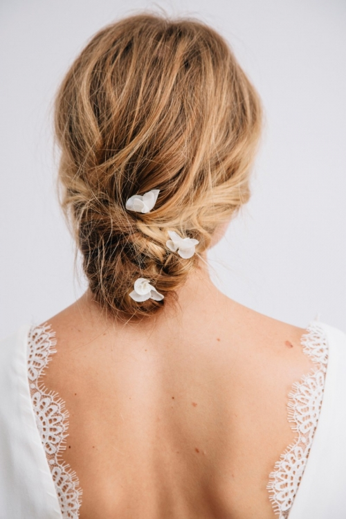 GRACE HAIR PIN IVORY