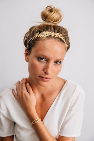 HEADBAND FEUILLES GOLD