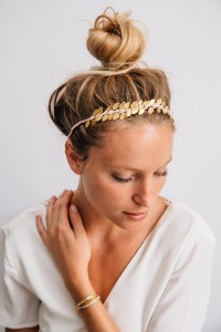 COURONNE FEUILLES GOLD