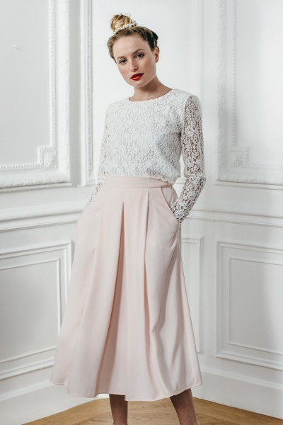 PINK PALE GEORGIA SKIRT