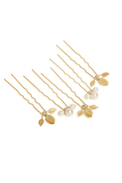 GOLD RIVIERA HAIR PIN X5