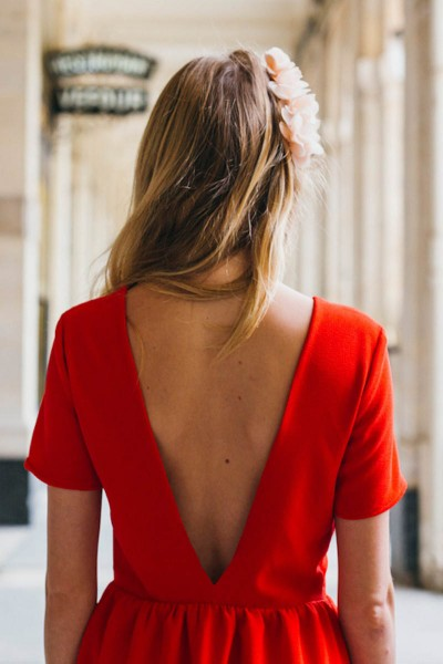 ROBE DANSE ROUGE