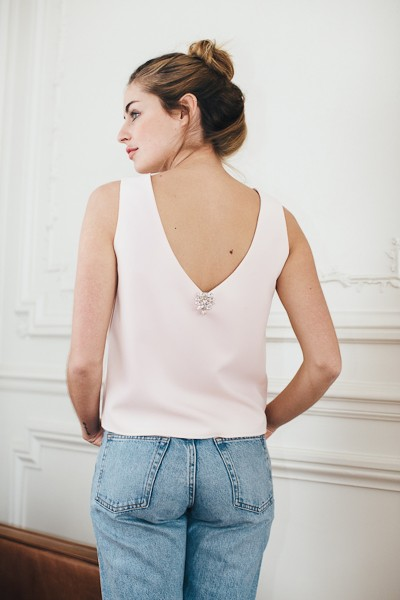 PALE PINK STELLA TOP
