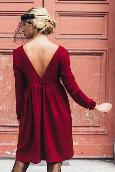 ROBE JADE BORDEAUX