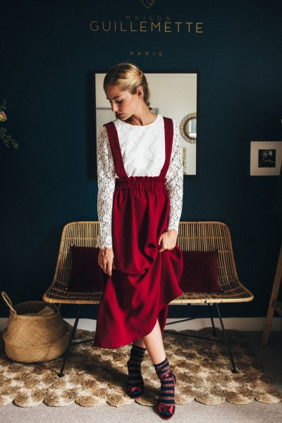ROBE COLETTE BORDEAUX