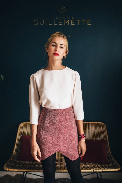 BORDEAUX WOOL SKIRT MINI CLAUDE