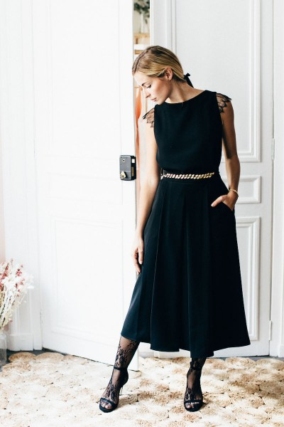BLACK GEORGIA SKIRT