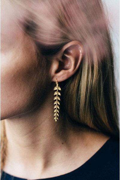 GOLD COB EARRINGS