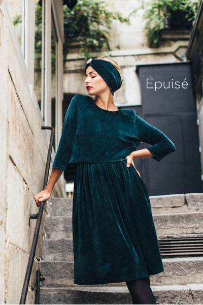 ENGLISH GREEN DOLCE DRESS