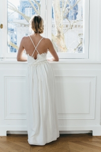 IVORY AND GOLD BALLERINA DRESS