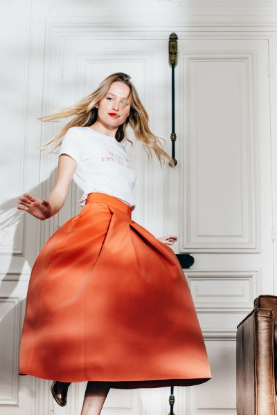 ORANGE GEORGIA SKIRT