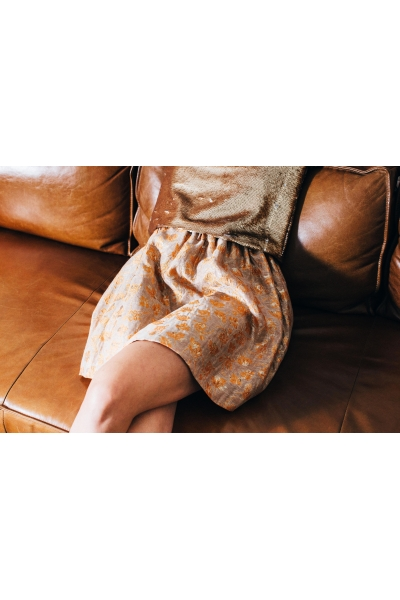NEREA ORANGE & GOLD SKIRT