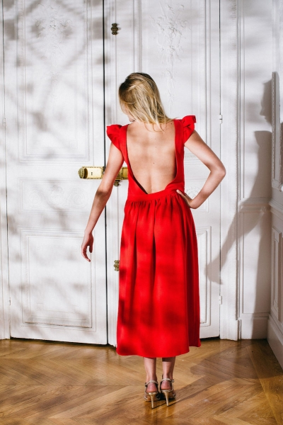 RED ROMA DRESS