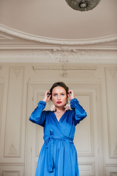 COBALT OLGA DRESS