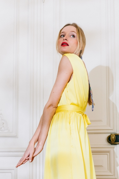 YELLOW VALINDA DRESS