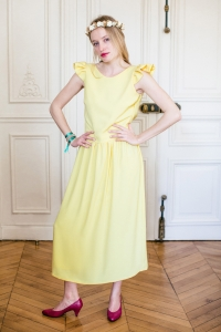 YELLOW ROMA DRESS