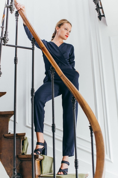 NAVY BLUE BIANCA JUMPSUIT