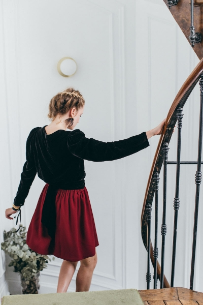 BORDEAUX AMOUR SKIRT