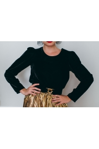 BLACK OLYMPE TOP