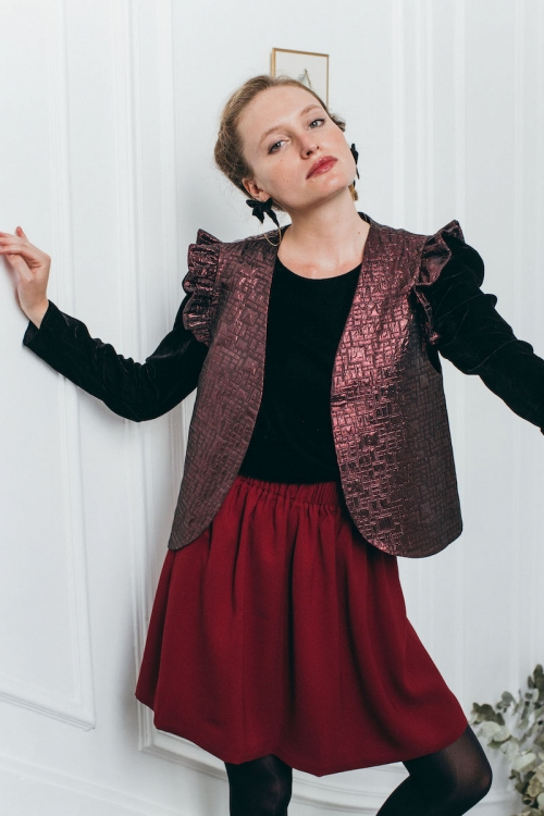 VESTE VOGUE BORDEAUX