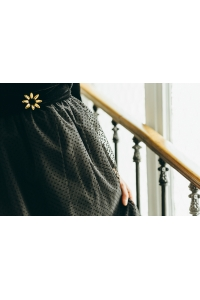 BLACK PLUMETIS SKIRT
