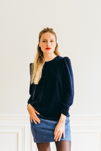 NAVY VERONE TOP