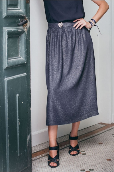 IRIDESCENT BLUE PALERMO SKIRT