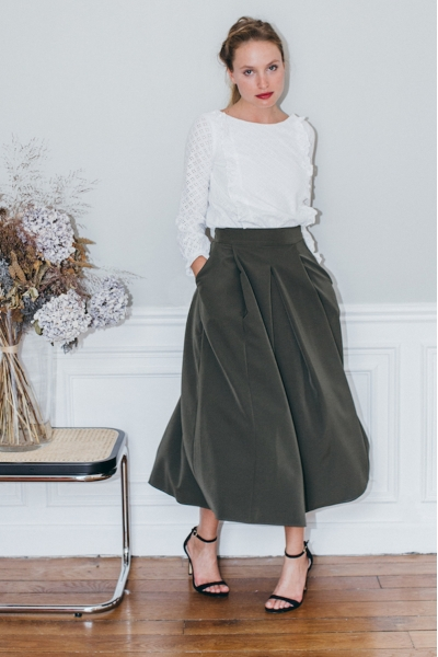 KAKI GEORGIA SKIRT