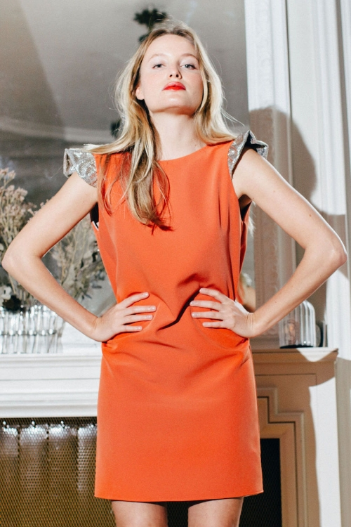 ESTRELLA ORANGE DRESS
