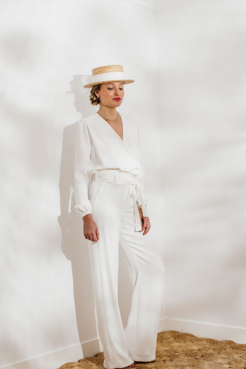 IVORY ANNA TROUSERS