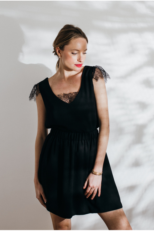 BLACK MULTIFONCTION STELLA BLOUSE AND...