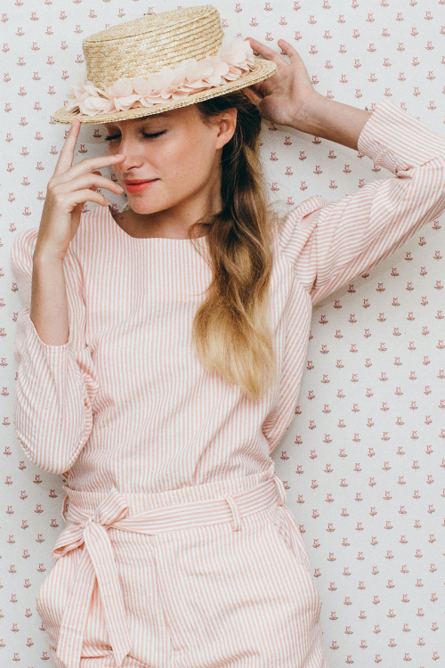 PALE PINK OLYMPE BLOUSE