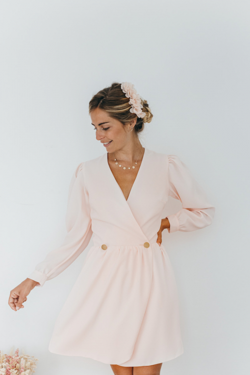PINK PALE HENRIETTA DRESS