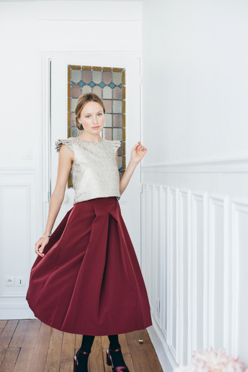BURGUNDY GEORGIA SKIRT