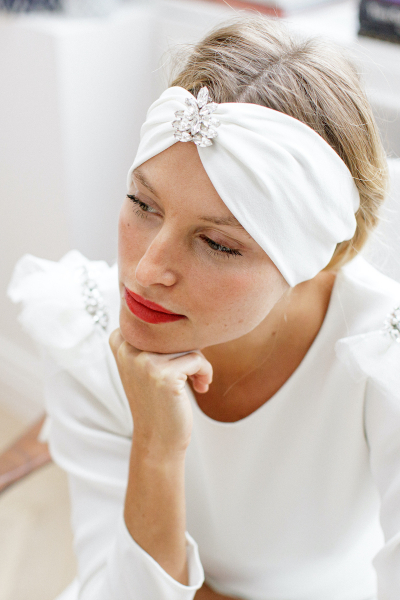 ROMY TURBAN WITH REMOVABLE...