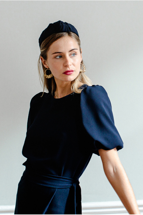 NAVY JEANNE BLOUSE