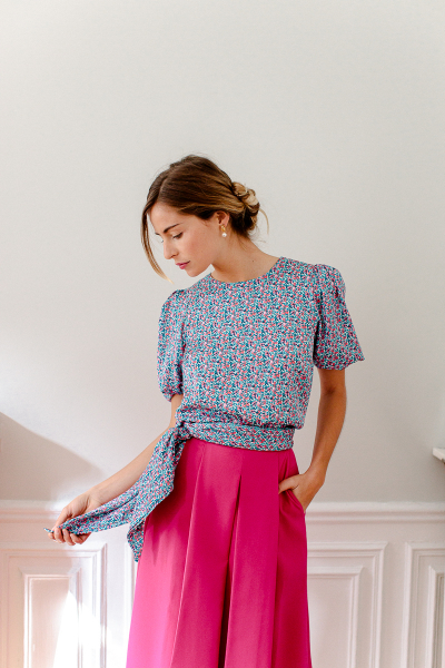 FUCHSIA GEORGIA SKIRT