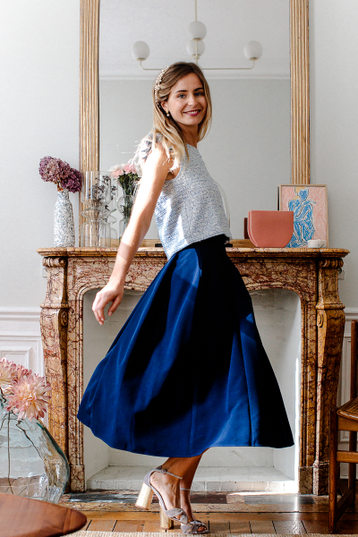 NAVY GEORGIA SKIRT