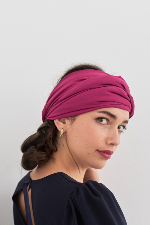 GRAND FOULARD SOLIDAIRE ROSE COUTURE